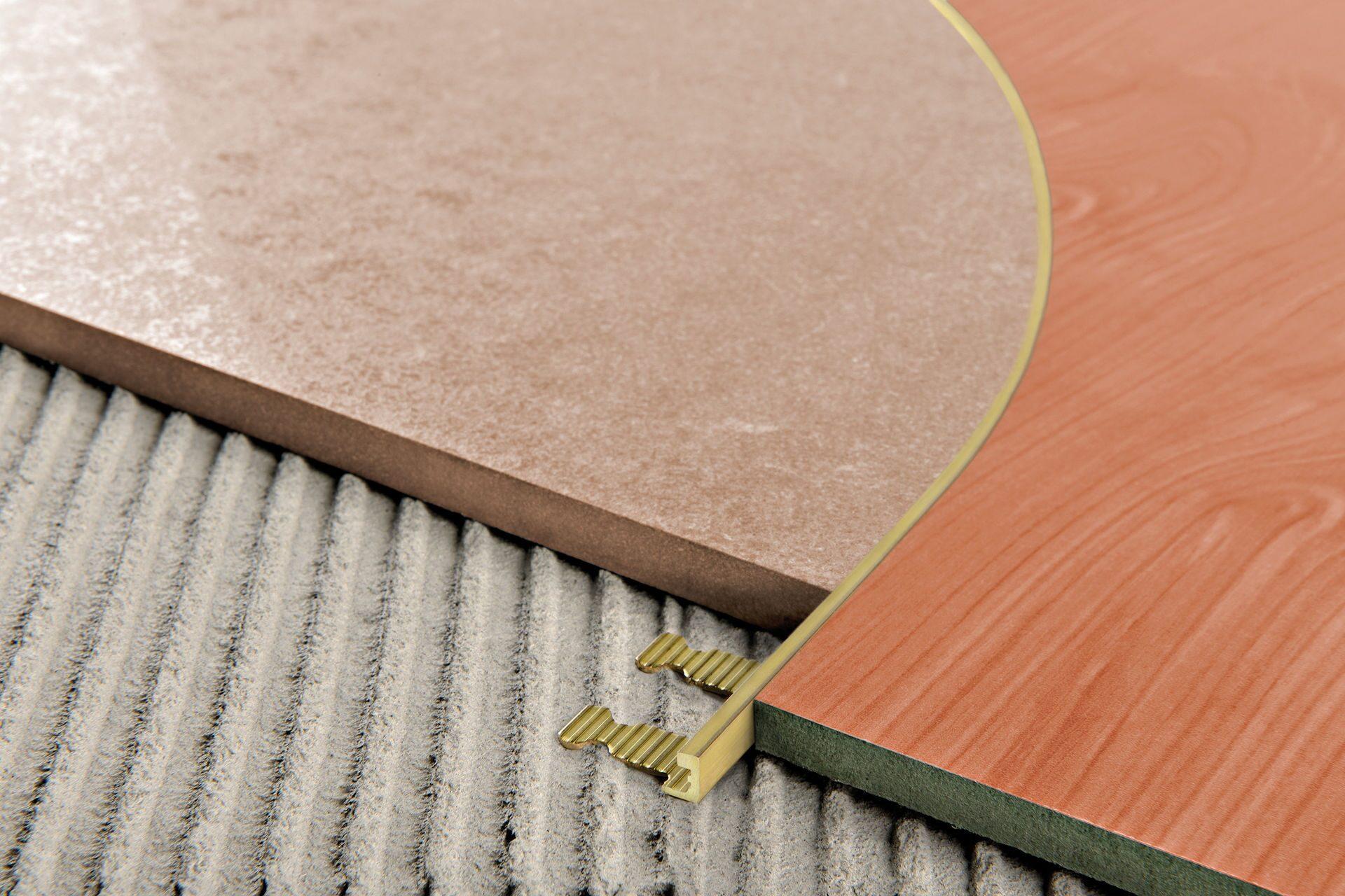 гибкий латунный профиль для плитки